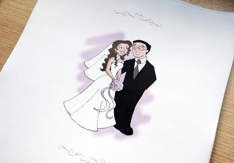 desenho de noivinhos personalizado confeitaria de convites 03