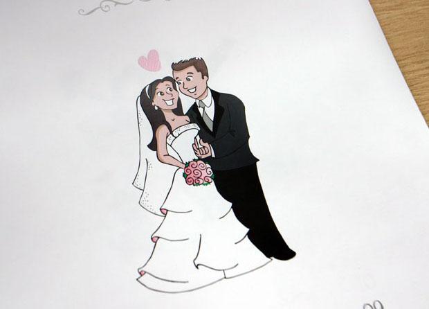 desenho noivinhos para convite MA