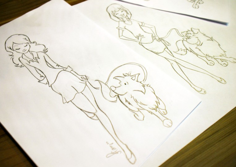 I love the way the rough sketches look!  :)