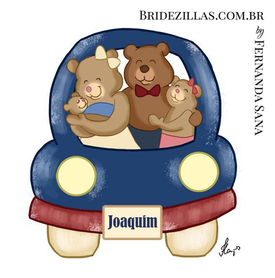 Ursinhos para o quadro da maternidade