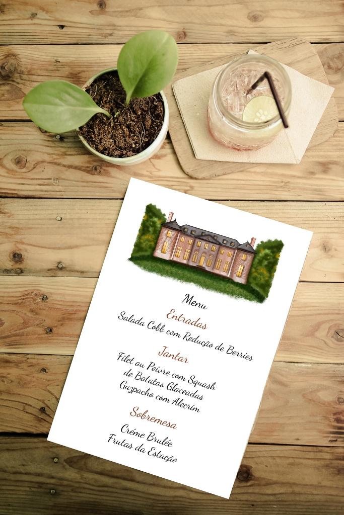 desenho-de-castelo-menu-casamento