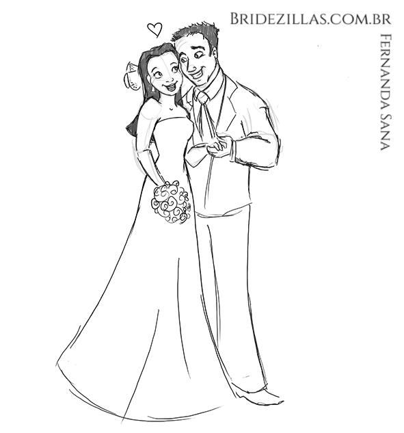 desenho-de-noivinhos-amor-convite-casamento